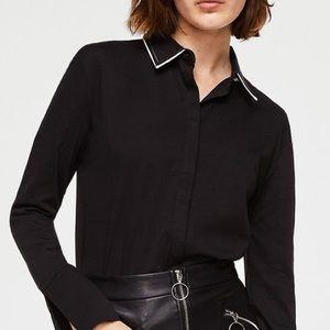 🆕 Mango Suit black contrast shirt.